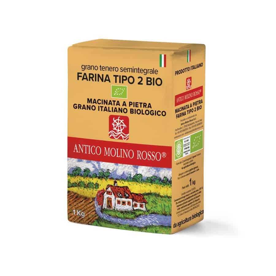farina grano tenero tipo 2 antico molino rosso